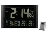 Hodiny nástěnné VELKÉ LCD digitalní+teploměr-řízené DCF