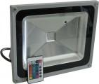 Reflektor LED venkovní 50W RGB šedý, 230V AC IP65