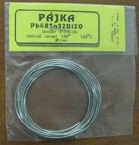 Cín-měkká pájka 1mm stavidlem Pb48Sn32Bi20 sáček s nízkou teplotou tavení