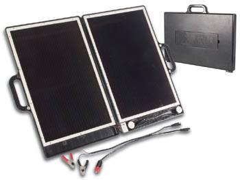 SOL-12V/750mA 13W Solární článek pro nabíjení AKU 12V - kufřík