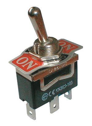 Přepínač páčkový 3pol./3pin (ON)-OFF-(ON) 250V/10A bez aretace