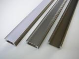 AL lišta-profil Mikro bronzový 15,5x6mm pro LED + plexi délka 1m