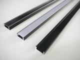 AL lišta-profil Mikro černý 15,5x6mm pro LED + plexi délka 2m