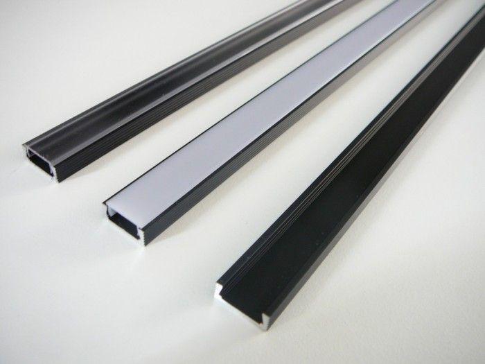 AL lišta profil Mikro černý pro LED + plexi k přisazení 15,5x6mm délka l=2m (Nadrozměrné zboží-nutné domluvit odběr)