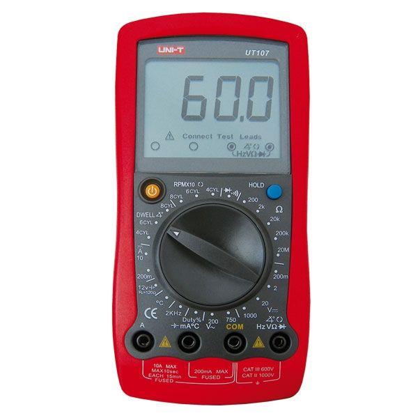 Digitální multimetr UNI-T UT107 se speciálními funkcemi pro autodiagnostiku s měřením teploty