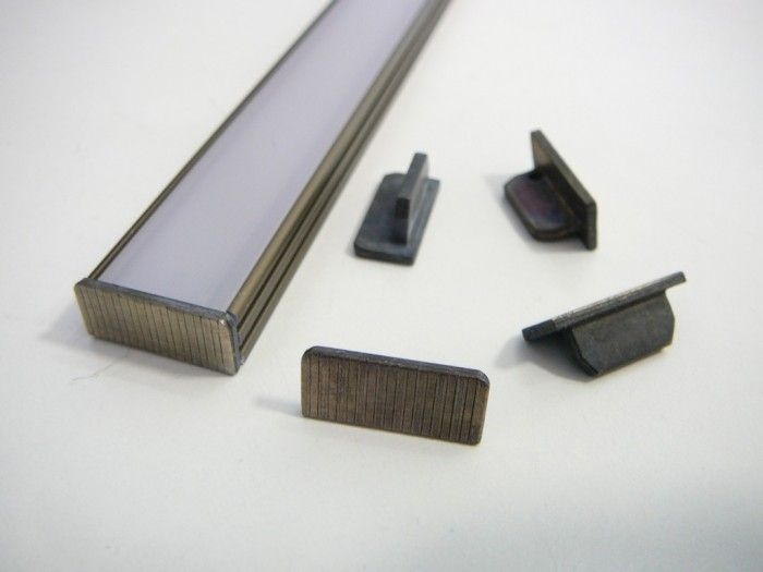 Krytka-koncovka pro AL profil N6-bronzová