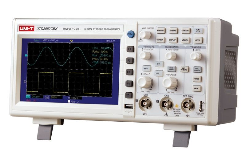 """Osciloskop digitální dvoukanálový UNI-T UTD2052CEX LCD 7"""" 50MHz"""