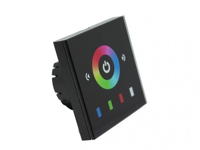 RGB kontroler-ovladač pro LED pásky, regulace jasu a barev dotykem, 3x4A, 12-24V,144W