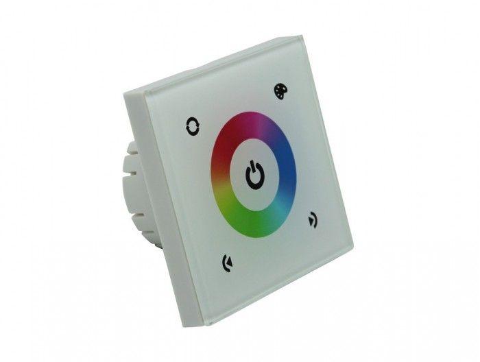 RGB kontroler-ovladač pro LED pásky,regulace jasu a barev dotykem,3x4A, 12-24V,144W
