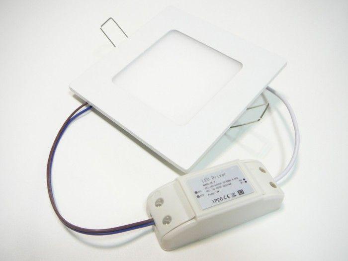 LED panel S- mini 13W čtverec do podhledu + trafo 230V vyberte variantu