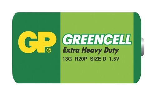 Baterie GP D (R20) Greencell 1,5V