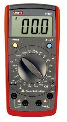 Digitální multimetr RLC UNI-T UT603 odpor, kapacita, indukce, test diod, tranzistorů, akustický