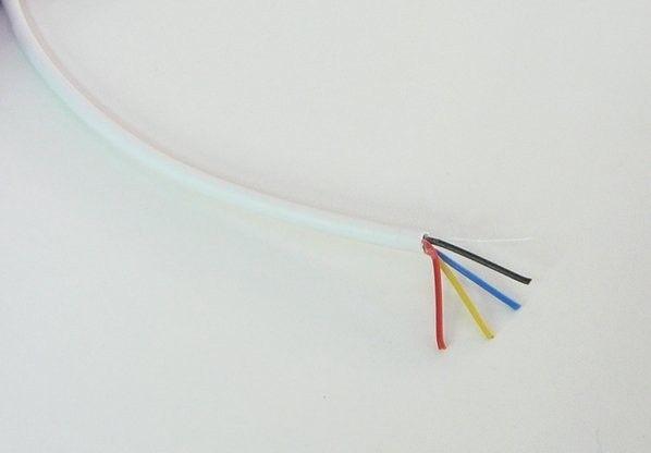 Kulatý kabel pro RGB pásky 4 x 0,19mm2