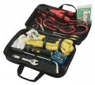 Sada nářadí - taška s nářadím do auta, startovací kabely, kompresor, autolano