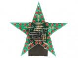 Stavebnice blikající hvězda 35 LED rudá červená