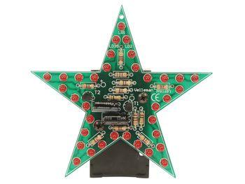 Stavebnice blikající hvězda s 35 LED diodami, napájení 9-12Vss