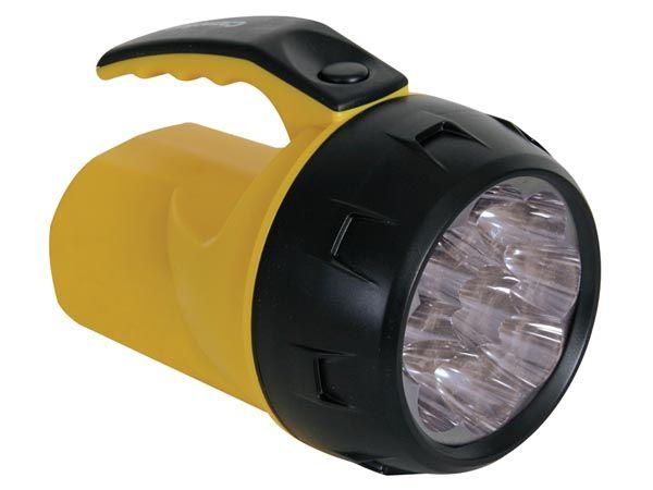 """Svítilna ruční LED - 9 vysoce výkonných LED diod, napájení: 4x """"AA"""" tužková baterie, baterka, reflektor"""