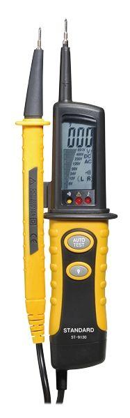 Zkoušečka napětí ST (DT)-9130 6V až 690V AC/DC, LCD displej, Detekce, Akustická signalizace fáze, Test vodivosti, Přepěťová kategorie CATIII 1000V, CATIV 600V, IP64