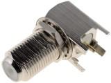 F-konektor zásuvka úhlová 90st. do DPS