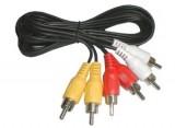 Kabel 3 x CINCH - 3 x CINCH konektor 1,5m, audio video