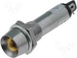 Kontrolka LED 12V DC @10mm žlutá (