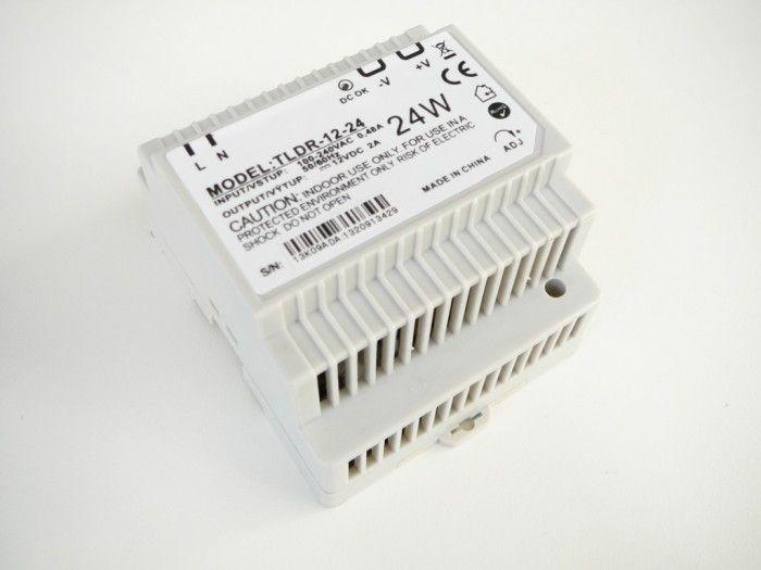 Napájecí spínaný zdroj-trafo pro LED pásky 12V DC,2A/24W na DIN lištu