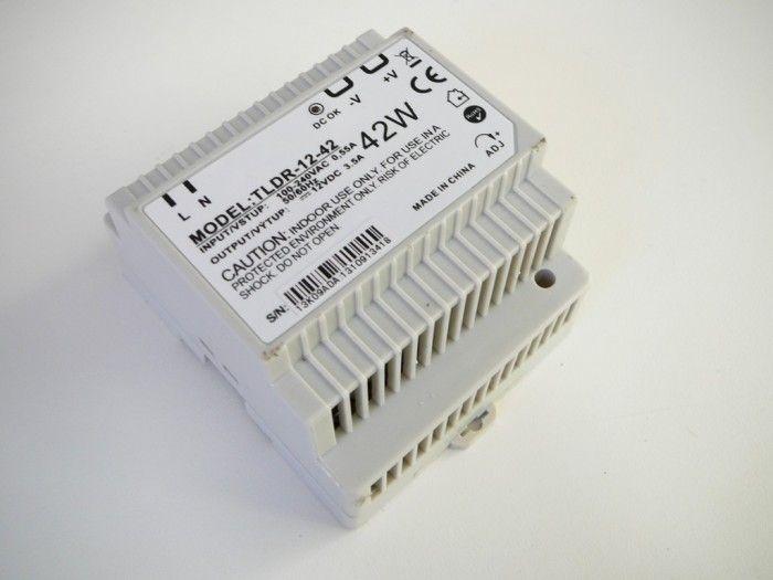 Napájecí spínaný zdroj-trafo pro LED pásky 12V DC/3,5A/42W na DIN lištu