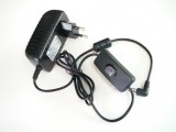 Zdroj-trafo pro LED 12V/24W 2A s vypínačem zásuvkový