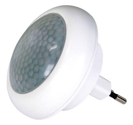 Noční světlo do zásuvky 8xLED barvu měnící, senzor, čidlo, 230V