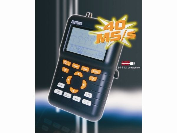 Osciloskop HPS-50 digitální s měřicí sondou, ruční, šířka pásma 12 MHz a cilivostí až 0,1 mV