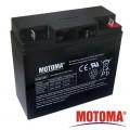 Baterie olověná 12V/17Ah akumulátor MOTOMA