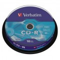 CD-R 700MB 80min. 52x,10SP Pack VERBATIM