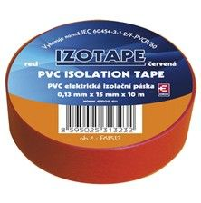 Izolační páska PVC 15mm/10m červená
