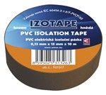 Izolační páska PVC 15mm/10m hnědá