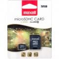MicroSDHC 32GB CL10 karta MAXELL+SD adapter