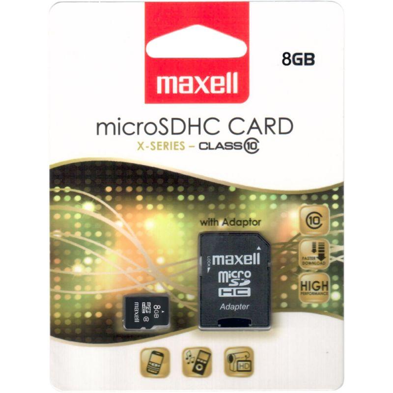 MicroSDHC 8GB CL10 85716 paměťová karta MAXELL+SD adapter