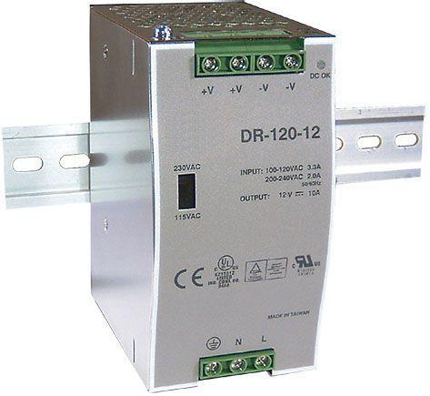 Napájecí spínaný zdroj-trafo pro LED pásky 12V DC/10A/120W na DIN lištu