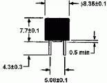 Radiální pojistka RFT 0,25A kulatá do DPS pomalá (T)