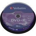 DVD+R 4,7GB, 120min. 16x SPINDL (10pack) VERBATIM
