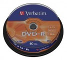 DVD-R 4,7GB, 120min. 16x SPINDL (10pack) VERBATIM