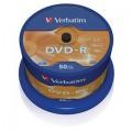 DVD-R 4,7GB, 120min. 16x SPINDL (50pack) VERBATIM