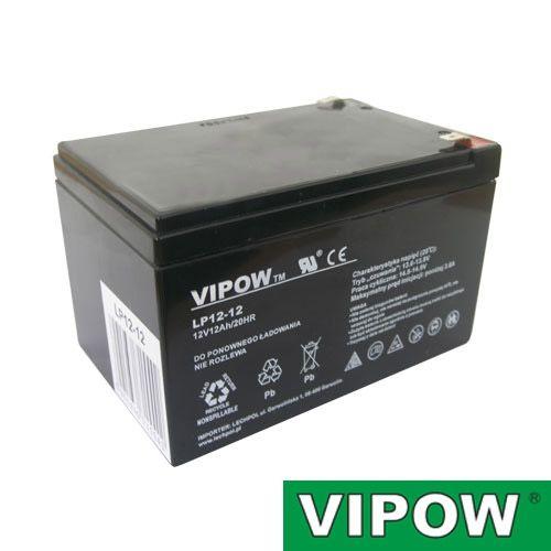 Akumulátor olověný gelový 12V/12Ah nabíjecí bezúdržbový akumulátor, náhradní použití elektro kola, skůtr, moped