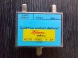 Anténní selektivní kanálový slučovač dvou antén 55,56,57 kanál + zbytek (SK+CZ programy)