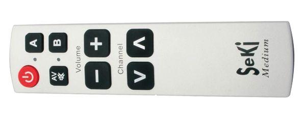 Dálkový univerzální ovladač-velká tlačítka, programovatelný-učící jednoduchý pro seniory,hotely....
