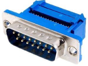 Konektor CANON 15pin samořezná vidlice 2-řadá DS15VPK na plochý kabel