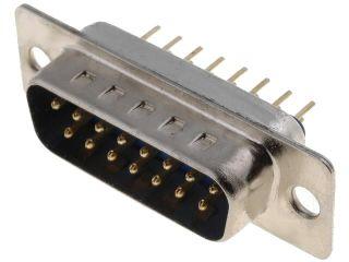 Konektor CANON 15pin vidlice 2-řadá DS15VP přímá do DPS