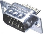 DS15VK3 konektor CANON 15pin 3ř. vidlice kabel