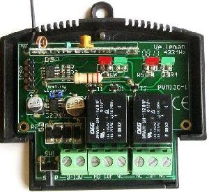 Modul dálkově ovládaného 2-kanál. RF přijímače a vysílače sada VM130