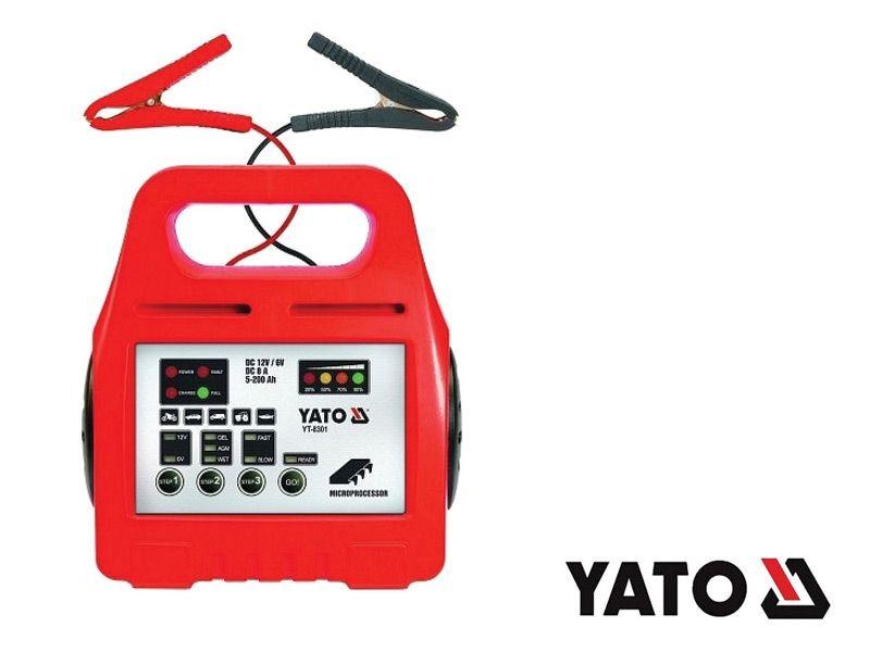 Nabíječka autobaterií akumulátorů 8A, 6/12V, gel/procesor, řízená, inteligentní, YATO
