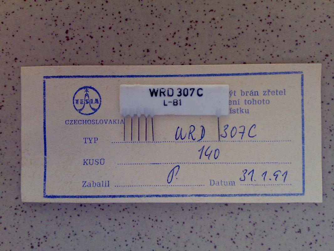 Odporový dělič WRD 307C, hřeben, hradlo, dekáda, rezistorová síť, přesná pro měřící přístroje, PU 510, QU 510, dělící poměr: 1K, 9K, 90K, 9000K, 9M